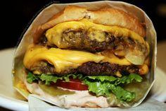 Juicy double cheeseburger