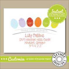 EDITABLE Easter ENVELOPE TemplateEaster Envelope