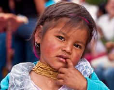 faces from Ecuador ... small girl in Otavalo village (she told me she loved her earring!) by Marcello Scotti