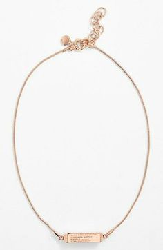 Effortlessly gorgeous. Marc by Marc Jacobs dogtag