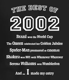 The Best of 2002 - 16th Birthday T Shirt for Boys