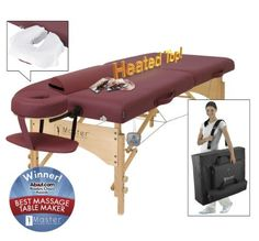 """Master Massage 29"""" Geneva Therma Top LX Portable Massage Table Package, (Includes FREE Carrying Case, Bolster, Spa Music CDs and Pillow Covers) by Master Massage. $299.00. Our patented built-in warming system """"Therma-Top"""" is EMR (Electro Magnetic Radiation) SAFE. The Therma-Top is far more sanitary than any warming pad as pads can get """"yucky"""" from oil and sweat build up over time and are a hassle to handle. The GENEVA LX is the perfect 28 in. x 84 in. si..."""