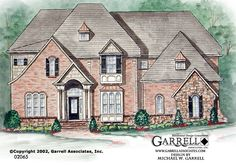 Garrell Associates, Inc.Laurel Mont House Plan # 02065, Front Elevation, French Style House Plans, Traditional Style House Plans, Design by Michael W. Garrell
