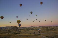 Hot-air ballon flight by Alberto Cerionesi
