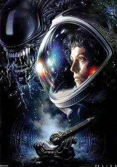 """geekynerfherder: """" 'Alien' by Tsuneo Sanda, a new officially licensed print release through Sideshow Collectibles. Fine art giclee print, on archival heavyweight rag art paper, in a signed limited edition of On sale for Pre-Order in. Conquest Of Paradise, Les Aliens, Aliens Movie, Arte Alien, Alien Art, Fiction Film, Science Fiction, Fantasy Fiction, Steven Universe"""