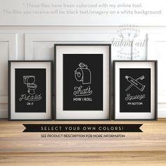 Funny bathroom art set of 3 PRINTABLE art bathroom wall decor printable decor bathroom printables bathroom art printable women gift men gift