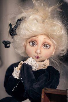 Купить Кукла Дульсинея. - тёмно-синий, кукла ручной работы, кукла, кукла в подарок