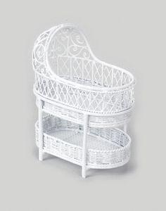 Dollhouse Miniature White Wire Victorian Bassinet Baby Room Furniture New   eBay