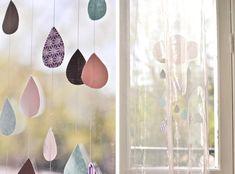 paper raindrops - love this!