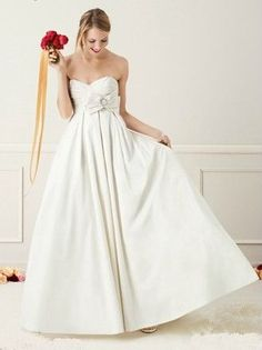 If I had a big wedding- this would have been my drees.  Tried it on and love love loved it.  Shantung Taffeta Sweetheart Ballgown {David's Bridal, $449}
