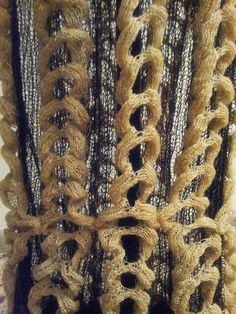 Structural knit sample with 3D textures; experimental knitting; innovative textiles for fashion // Tatiana Elkind