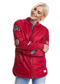Odd Molly Bomber Jakke 717M-848 Love Bomber Jacket - red bud
