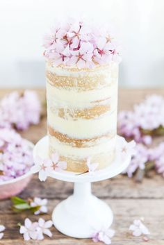 Meringue Buttercream Blossom Cake