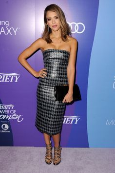 Jessica Alba at the Variety Power of Women. Hair by Andy Lecompte. Makeup by Monika Blunder. Styling by Emily and Meritt.
