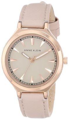 Anne Klein Women's AK/1504RGLP Rose Gold-Tone Case Blush Pink Leather Strap Watch - http://www.specialdaysgift.com/anne-klein-womens-ak1504rglp-rose-gold-tone-case-blush-pink-leather-strap-watch/