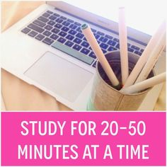 The Perfect Amount of Time to Study | Organized Charm | Bloglovin'