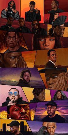thug-of-arabia: ? Arte Do Hip Hop, Hip Hop Art, Dope Cartoon Art, Black Girl Cartoon, Black Love Art, Black Girl Art, Mode Hip Hop, Trill Art, Photo Deco