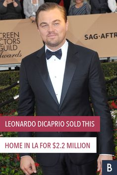 """Leonardo DiCaprio Sold This Home in LA for $2.2M -- The star of """"The Wolf of Wall Street"""" has trimmed his real estate portfolio. Take a peek inside the Oscar-winner's California pad here.  Photo credit: Tinseltown/Shutterstock.com"""