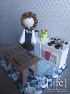 ~ a paper {life}: ~ quilled 3d kitchen scene - by Cheryl