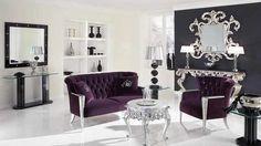 white & purple Baroque livingroom