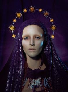 The December 2010 issue of Kurv magazine features this religious themed editorial 'Ora Pro Nobis' (Pray For Us) by Italian photographer Giovanni Squatriti, featuring model Joanna Augusciuk. Madonna, Headdress, Headpiece, Photographic Makeup, Editorial Fashion, Fashion Art, La Madone, Religious Images, Sacred Heart
