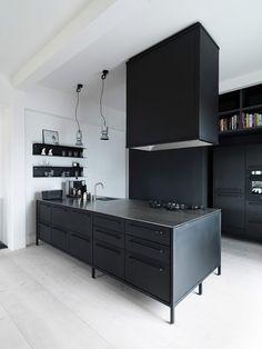 #blackkitchen #kitchen | a-peek-inside-the-home-of-architect-morten-bo-jensen-20