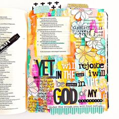 "Hello! Stephanie here today to share my most recent bible journaling page I did on Habakkuk 3:18. I'm pretty sure we could each use this ""message"" at one point or another, for me I needed it right now. I follow a few…"