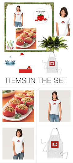 """Cooking With Tomatoes"" by fit4you on Polyvore featuring art, whimsical, cartoon, tomatoes and tomato"