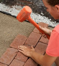 Step by step guide to building your own brick path