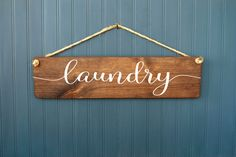 Laundry Sign - Large Rustic Wood Sign - Laundry Room Decor - Wall Art - Laundry Door - Farmhouse Style