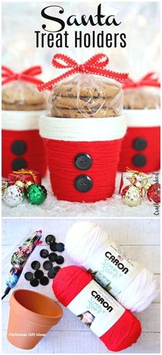 DIY Weihnachten Treat Holder: Santa Cup Consumer Crafts Christmas presents Santa Crafts, Holiday Crafts, Holiday Fun, Diy Christmas Crafts To Sell, Handmade Christmas, Christmas Decorations Diy Crafts, Preschool Christmas, Diy Homemade Christmas Gifts, Christmas Classroom Treats
