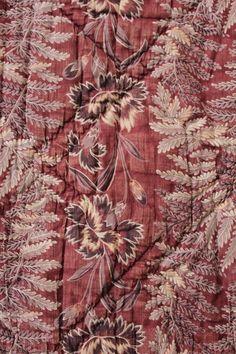 Boutis Quilt Antique French c1840 Purple Floral Textile Large 88 x 68 | eBay