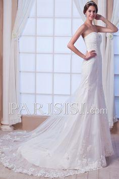 vestidos de novia Encaje Sin Mangas Elegante Moderno Glamouroso Chapel Corazón Tul Basque Hasta Suelo Cristals Encaje