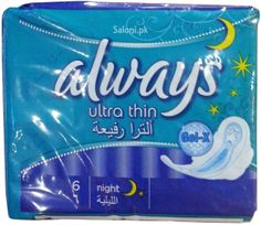 Always Pads Ultra Thin Night 6 Always Pads, Maxi Pads, Bath And Body, Night, Health, Health Care, Salud