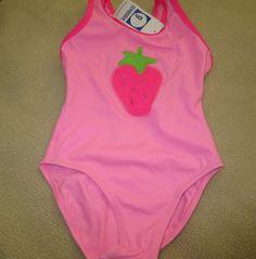 NWT Gymboree Vintage Strawberry Fields Pink 1 PC Swimsuit Girl sz 4    eBay