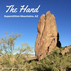 Hiking: The Hand an easy 3 mile hike in the Superstition Mountains just east of Phoenix Arizona Oak Creek Canyon Arizona, Places To Travel, Places To Visit, Superstition Mountains, Hiking Routes, Arizona Travel, Mountain Hiking, Best Hikes, Old West