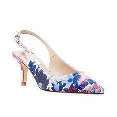 L.K. Bennett printed slingback pumps Florita mid heel, $325, bloomingdales.com. (=)