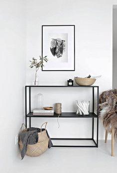 36 ideas for living room white decor furniture Scandinavian Shelves, Scandinavian Interior Design, Decor Interior Design, Interior Decorating, Scandinavian House, Design Interiors, Minimalist Apartment, Minimalist Home Decor, Minimal Apartment Decor