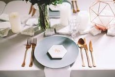 Image result for marble copper weddings