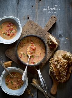 Tomato & corn soup..perfect winter treat!