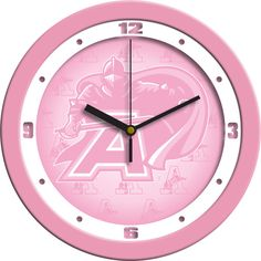 Army Black Knights Pink Wall Clock
