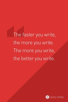 Nothing moves a writer like a deadline. https://goinswriter.com/writing-speed/