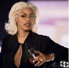 Blonde wigs for black women Mode Old School, Short Hair Styles, Natural Hair Styles, Black Girl Aesthetic, Boujee Aesthetic, Teyana Taylor, Black Girls Hairstyles, Casual Look, Beautiful Black Women