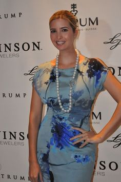 Ivanka Trump opera length pearl necklace