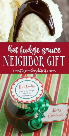 Best ever hot fudge sauce makes a great neighbor gift. This rich and creamy ho Best ever hot fudge sauce makes a great neighbor gift. This rich and creamy homemade hot fudge stays smooth even in the fridge! Source by twotwentyone Neighbor Christmas Gifts, Neighbor Gifts, Homemade Christmas Gifts, Christmas Desserts, Santa Gifts, Christmas Goodies, Xmas, Christmas Ideas, Christmas Things