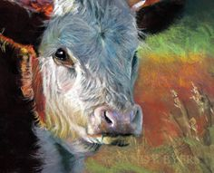 Eye of the Beholder. 11 x 14 dry pastel by Sandy Byers. This has got to be one of the sweetest faces I have ever seen. Well, her baby was quite a looker too, but  there was something so special about this mother's personality, her maturity and her gaze that just captured my heart.