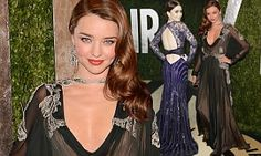 Miranda Kerr had a very rare fashion mis-step as she arrived at the Vanity Fair Oscars Party at the Sunset Tower Hotel on Sunday night.