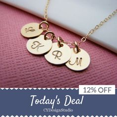 Today Only! 12% OFF this item.  Follow us on Pinterest to be the first to see our exciting Daily Deals. Today's Product: Sale -  Gold initial necklace - tiny gold initial disc necklace - gold filled initial necklace - gold filled jewelry - custom initial neckla Buy now: https://www.etsy.com/listing/232941607?utm_source=Pinterest&utm_medium=Orangetwig_Marketing&utm_campaign=Daily%20Deal #etsy #etsyseller #etsyshop #etsylove #etsyfinds #etsygifts #musthave #loveit #instacool #shop #shopping…