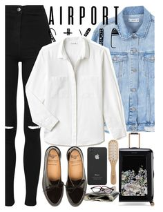 """""""."""" by jessgomes99 ❤ liked on Polyvore featuring Topshop, MANGO, Ted Baker, Lacoste, Incase and Philip Kingsley"""