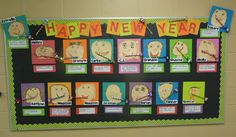 New Year bulletin board.  This might be too young for my kids, but so cute!
